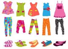 Barns kläder för kvinnor royaltyfri illustrationer