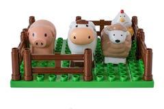 Barns lantgård med husdjur Royaltyfri Bild