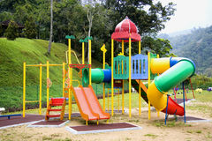 barns lekplats Arkivbild