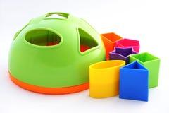 Barns leksak - färgrik sorterare royaltyfri bild