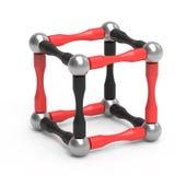 Barns magnetiska leksak i form av en kub framförande 3d vektor illustrationer