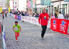 Barns maraton i Oslo, Norge Royaltyfri Foto