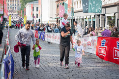 Barns maraton i Oslo, Norge Royaltyfri Fotografi