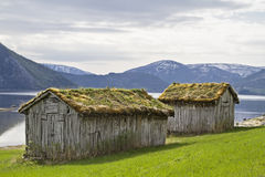 Barns at Misvaerfjord Royalty Free Stock Photos