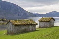 Barns at Misvaerfjord Royalty Free Stock Photo