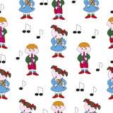 Barns musiktema vektor illustrationer