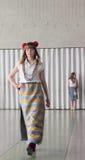 Barns nationella ukrainska moderna mode Royaltyfri Foto