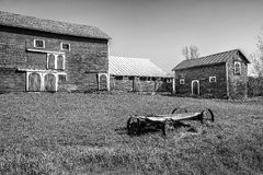 Barns and Old Farm Wagon Royalty Free Stock Image