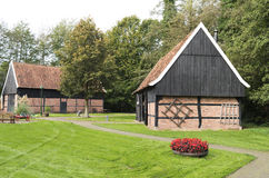 Barns in the Open Air Museum in Ootmarsum. Royalty Free Stock Images