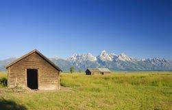 Barns on the prairie Royalty Free Stock Photos