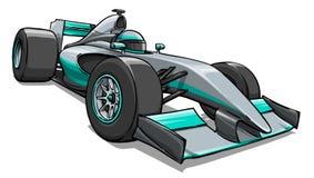 Barns rolig konst för illustration för racerbil för tecknad filmformel royaltyfri illustrationer