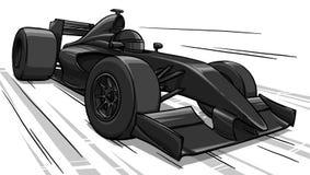 Barns rolig konst för illustration för racerbil för tecknad filmformel vektor illustrationer