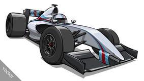 Barns rolig konst för illustration för vektor för racerbil för tecknad filmformel Arkivfoto