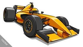 Barns rolig konst för illustration för vektor för racerbil för tecknad filmformel stock illustrationer
