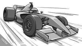 Barns rolig konst för illustration för vektor för racerbil för tecknad filmformel vektor illustrationer