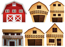 Barns set Stock Photos