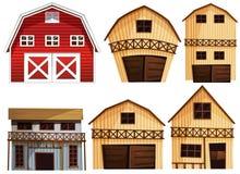Barns set Stock Photos