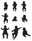 barns silhouettes stock illustrationer