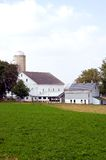 Barns and silos on farm. A view of several barns and buildings on a rural farm in Amish country near Lancaster, Pennsylvania, (USA Stock Photos