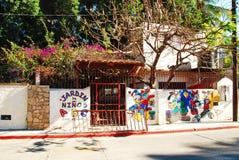 Barns skola i Mexico royaltyfri fotografi