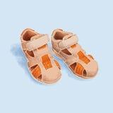 Barns sommar skor apelsinen för pojkar Vektor Illustrationer