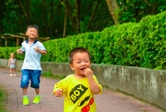 Barns startande linje Royaltyfri Foto