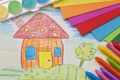 Barns teckning Royaltyfri Fotografi