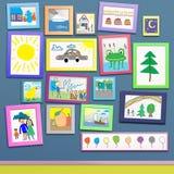 Barns teckning Arkivbilder