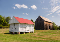 Barns at Thomas Stone house in Maryland Stock Image