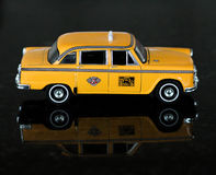 Barns Toy Taxi Car Arkivbilder