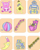 barns toys Royaltyfri Fotografi