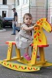 Barns utställningar för leksakmuseum Royaltyfri Bild