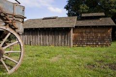 Barns and wagon Stock Images