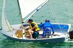 Barnsegelbåtbilder Fotografering för Bildbyråer