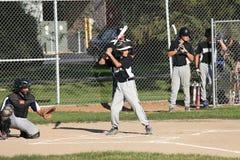 Barnserien i basebollbaseball U14 Arkivfoton