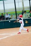 Barnserien i basebollbaseballsmet Arkivbilder