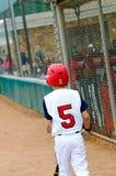 Barnserien i basebollbaseballsmet Royaltyfri Bild