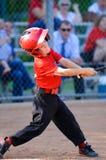 Barnserien i basebollsmet Royaltyfri Bild
