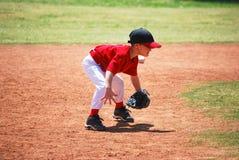 Barnserien i basebollkort stavelsestopp Royaltyfri Foto
