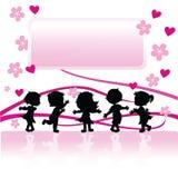 barnsilhouettes Royaltyfri Bild