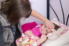 Barnsjukdomperiod Arkivfoto