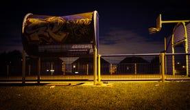 Barnsley-Basketball-Graffiti stockbilder