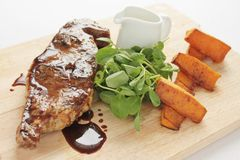 Barnsley chop meal Royalty Free Stock Photography