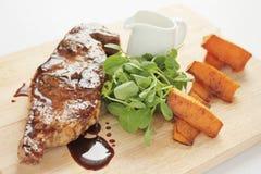 Barnsley lamb chop meal Royalty Free Stock Images