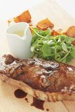 Barnsley lamb chop meal Stock Photography
