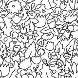 Barnslig gullig pastell färgade den blom- sömlösa modellen, vektor Arkivfoto