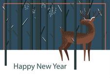Barnslig hjortillustration för gullig vektor vektor illustrationer