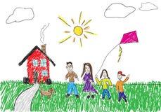 barnslig teckning stock illustrationer