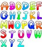Barnsligt alfabet Arkivfoto
