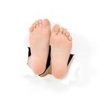 barnsligt foots arkivfoto